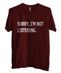 Sorry I`m Not Listening T-shirt Men - Meh. Geek - 3