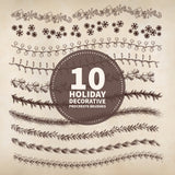 10 Holiday Decorative Brushes - PrintableHaven  - 2