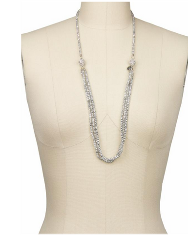 Saachi Simply Long Crystal Necklace-Convertible