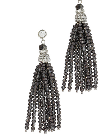 Saachi Bridal Crystal Tassel Earrings