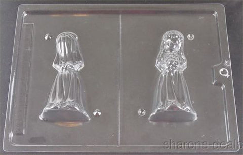 3D Bride Chocolate Mold Wedding Dress My Cupcake W43 Candy Making Supply Soap - FUNsational Finds