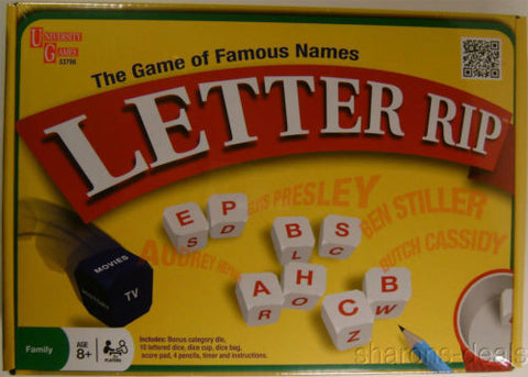 Letter Rip Famous Names Movies TV History Dice University Games Timer Family NIB - FUNsational Finds - 1