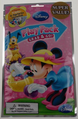 Minnie Mouse Play Pack Easter Lot 12 Grab Go Coloring Book Disney Crayon Sticker