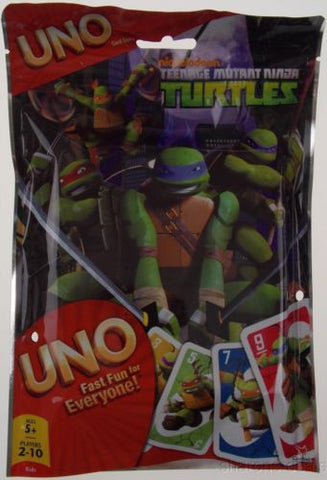 Nickelodeon Teenage Mutant Ninja Turtles UNO Card Game 112 Cards Resealable Bag - FUNsational Finds - 1