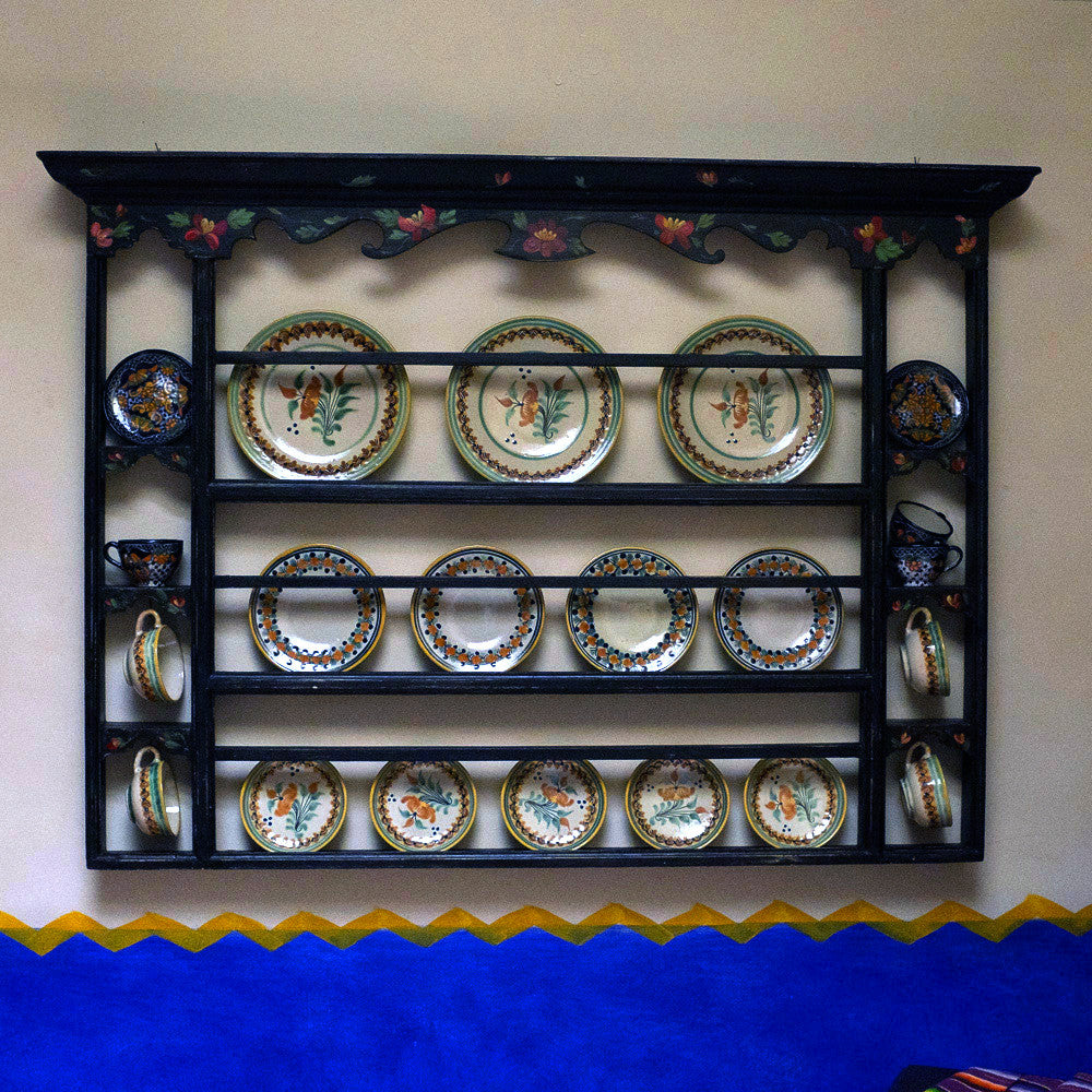 Hand-painted Plate Rack