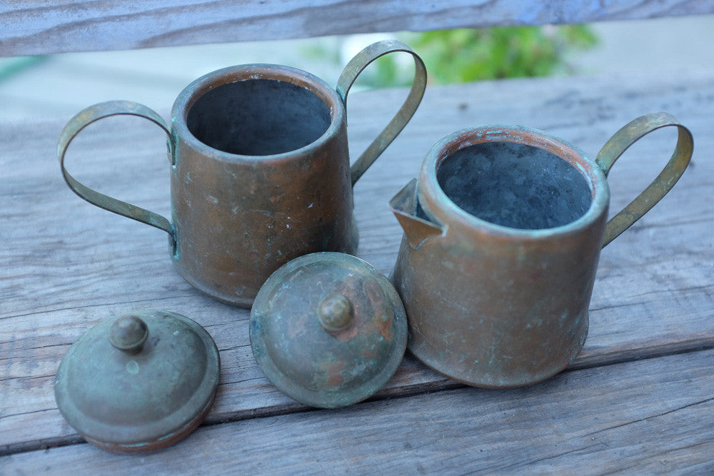 Joan's Spartan copper creamer and pitcher