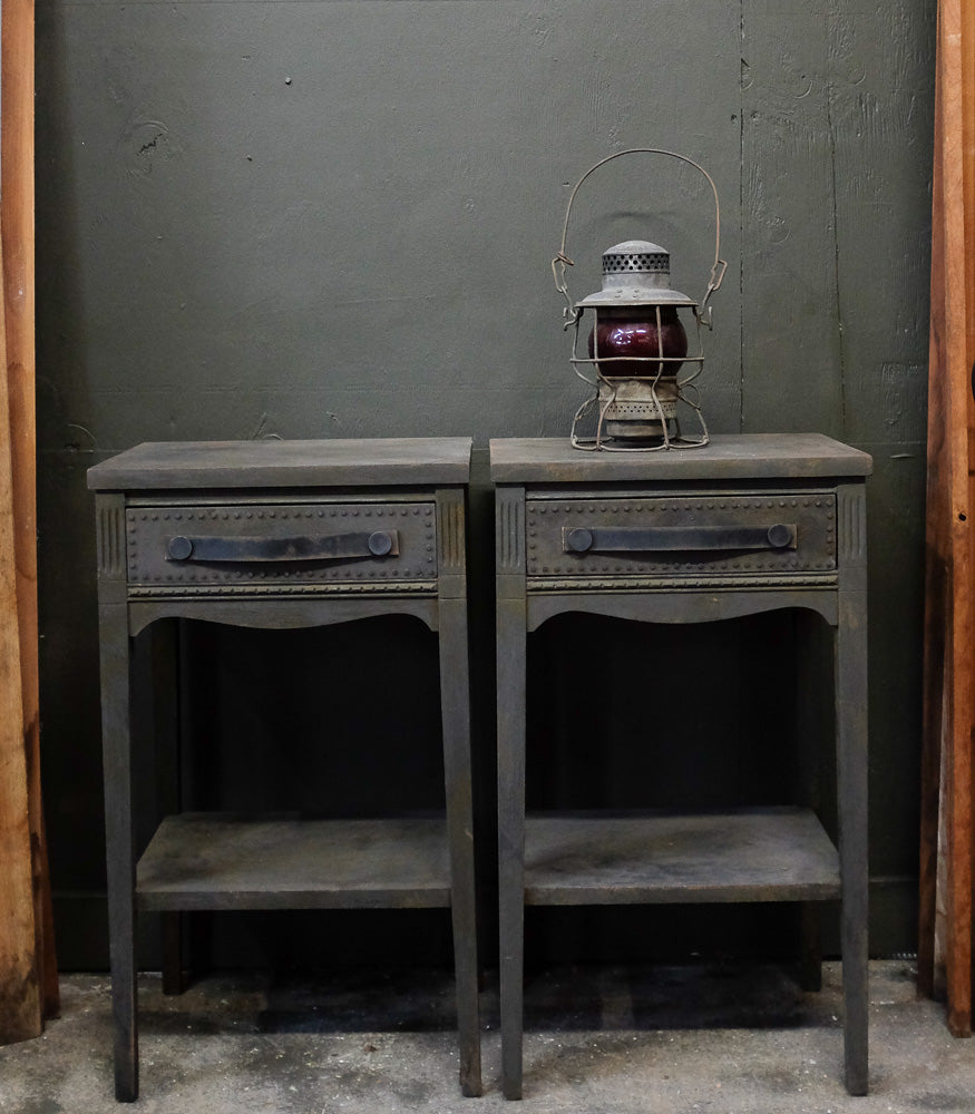 Chad's charcoal side tables