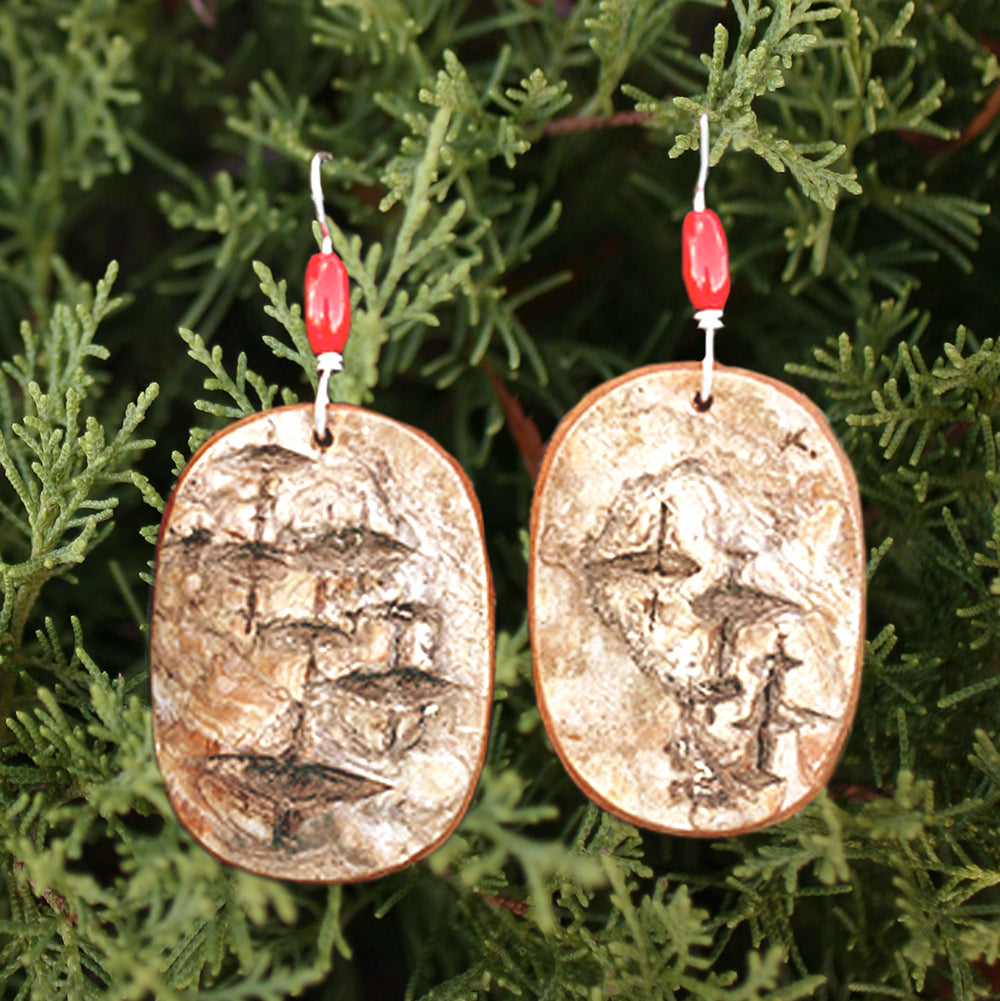 Birch Earrings - Medium | Upcycled, Recycled, Repurposed, Reimagined | Changing Tides