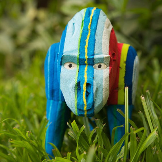 Flip-Flop Gorilla | Upcycled, Recycled, Repurposed, Reimagined | Seeds for Kindness
