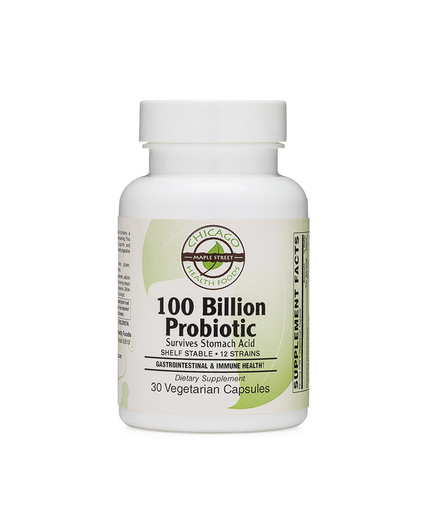 100 Billion Probiotic supplement Chicago Health