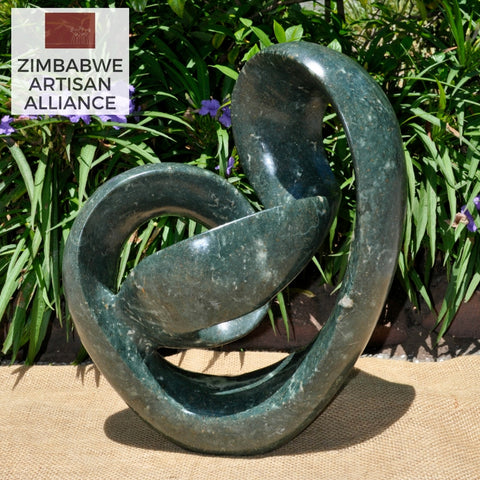 """Large Abstract Sculpture"" Shona Sculpture"