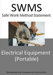 Electrical Equipment (Portable) SWMS - Construction Safety Wise