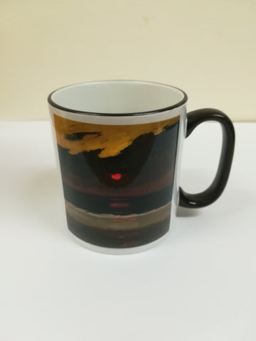 Sunset over Anglesey - Sir Kyffin Williams Mug|Sunset over Anglesey - Mwg Syr Kyffin Williams