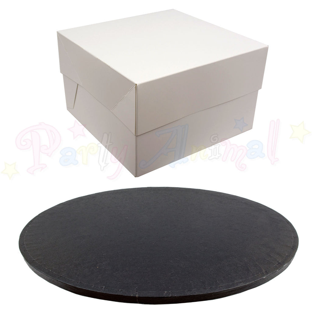 ROUND Drum Cake Board and Box Set - BLACK DRUM - Choose Size