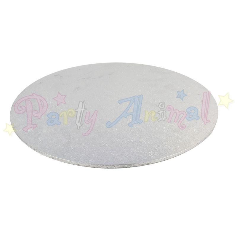 ROUND Hardboard Cake Board - Silver Foil - PACK OF 10 - Choose Size