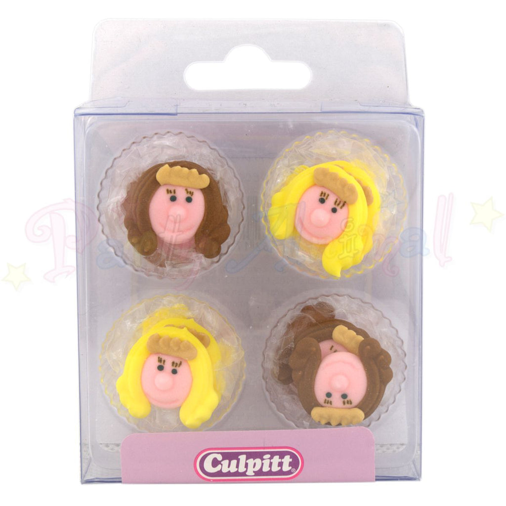 Culpitt Edible Piped Decorations PRINCESS Set of 12 Cupcake Toppers
