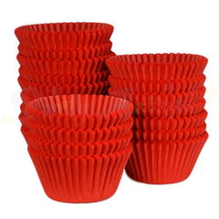 Bright Red Bulk Cupcake Baking Cases