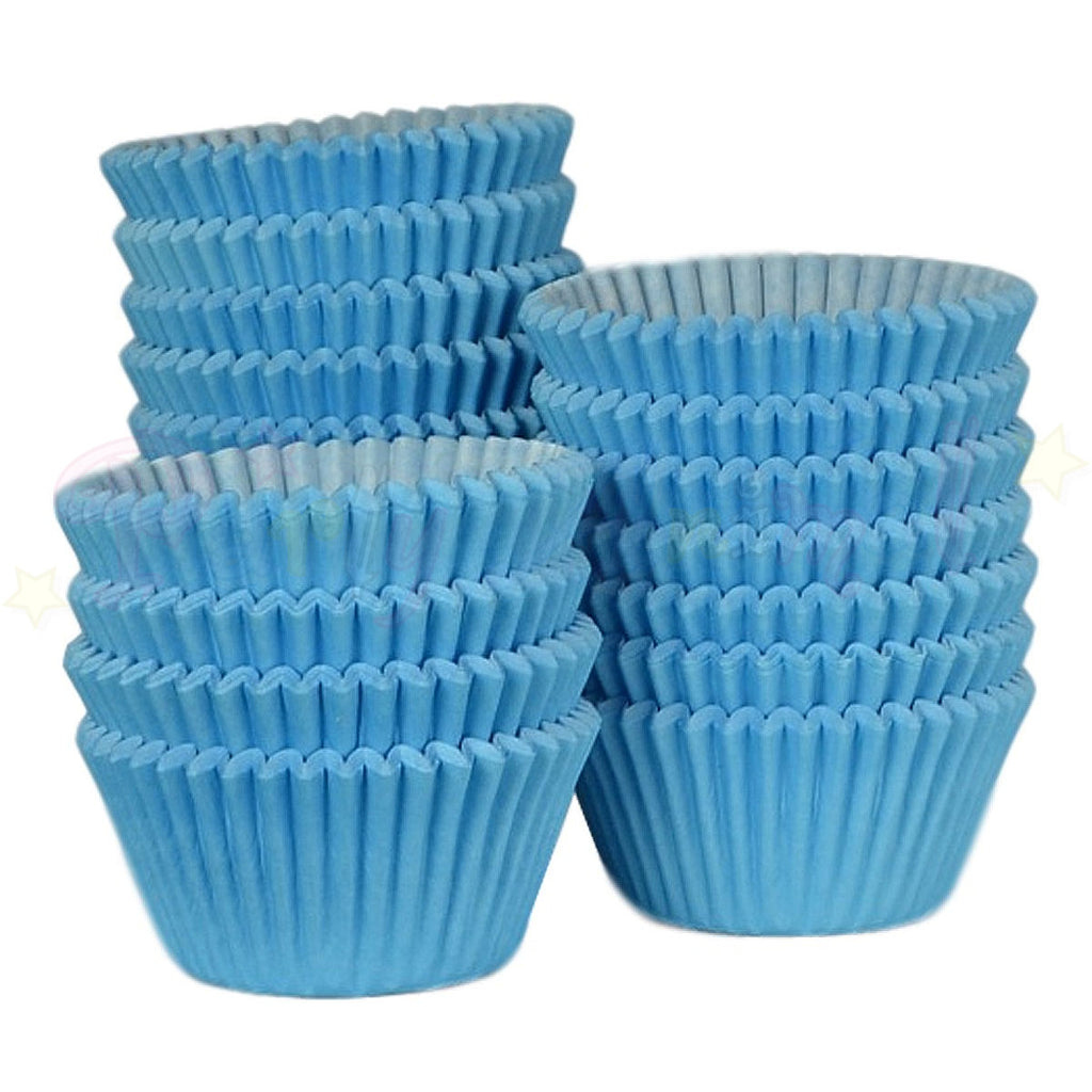 Baking Cases - approx. 500/pack - Plain Sky Blue