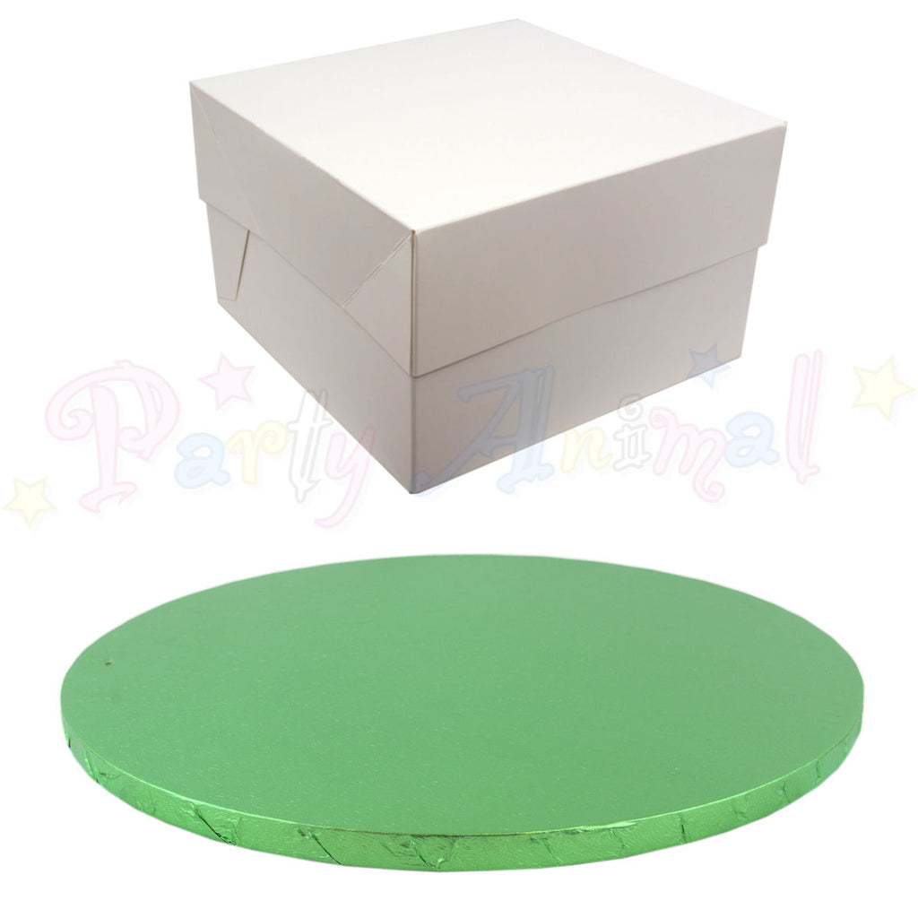 ROUND Drum Cake Board and Box Set - PALE GREEN Drum - Choose Size