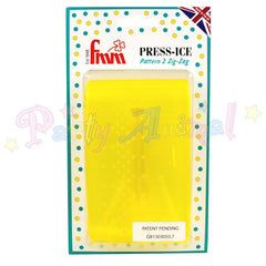 FMM  Press Ice Embosser PATTERN 2 - ZIG ZAG Impression Tool