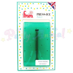FMM  Press Ice Embosser POLKA 4 Impression Tool GREEN