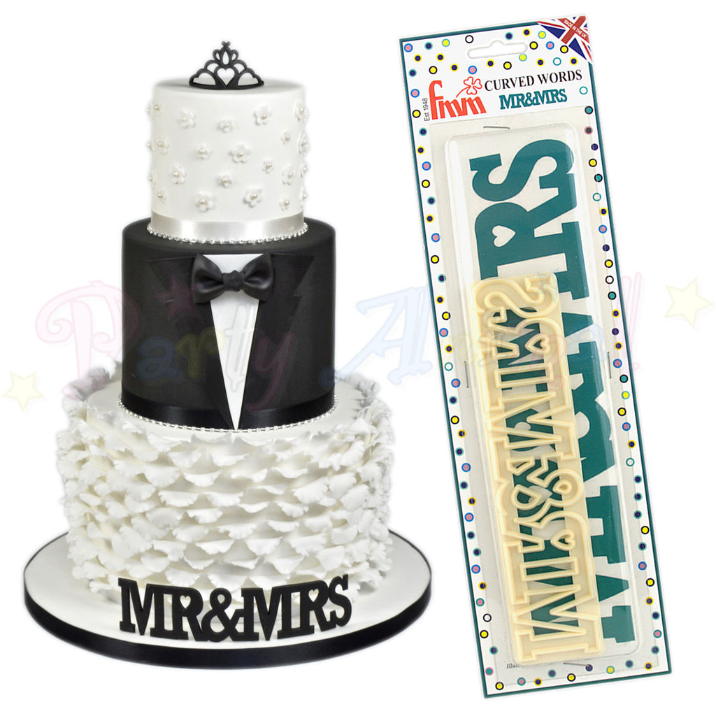 FMM Curved Words Cutter - Mr & Mrs