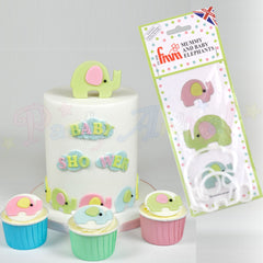 FMM Mummy and Baby Elephants Cutter Set!