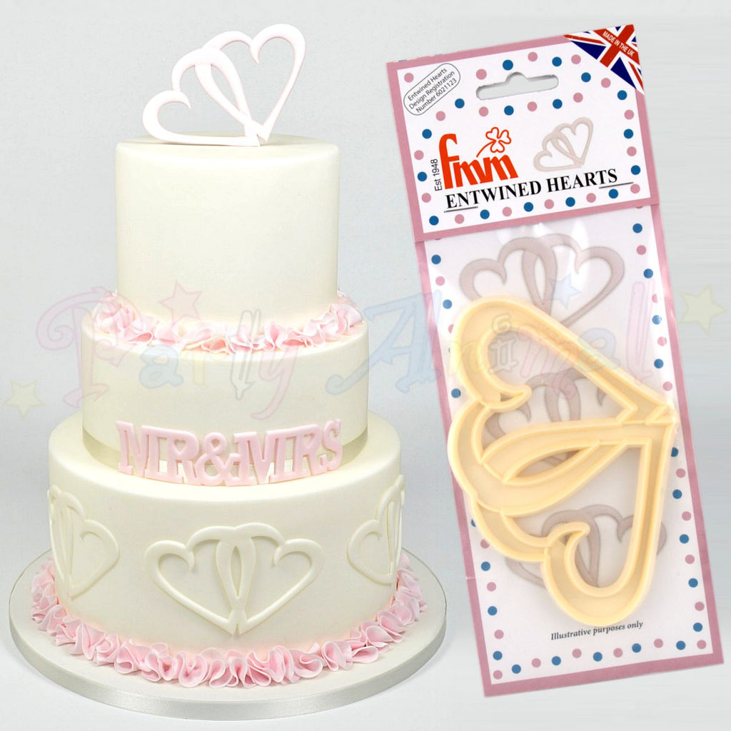 FMM Sugarcraft Entwined Hearts Cutters