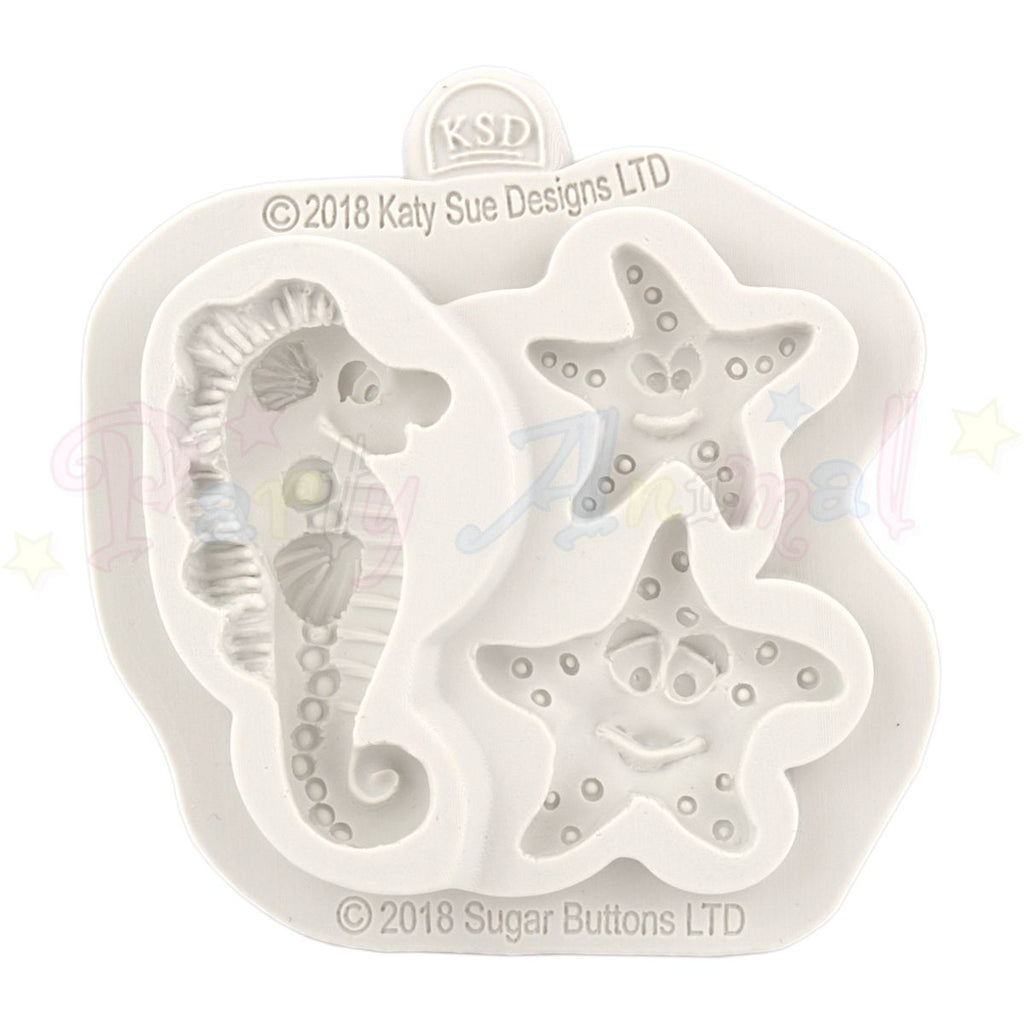 Katy Sue Cupcake Sugar Buttons Moulds - Starfish and Seahorse
