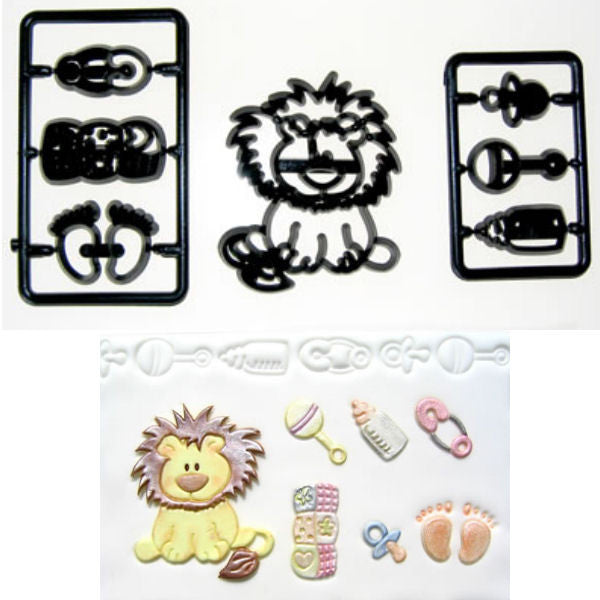 Patchwork Cutters Baby Lion Nursery Set
