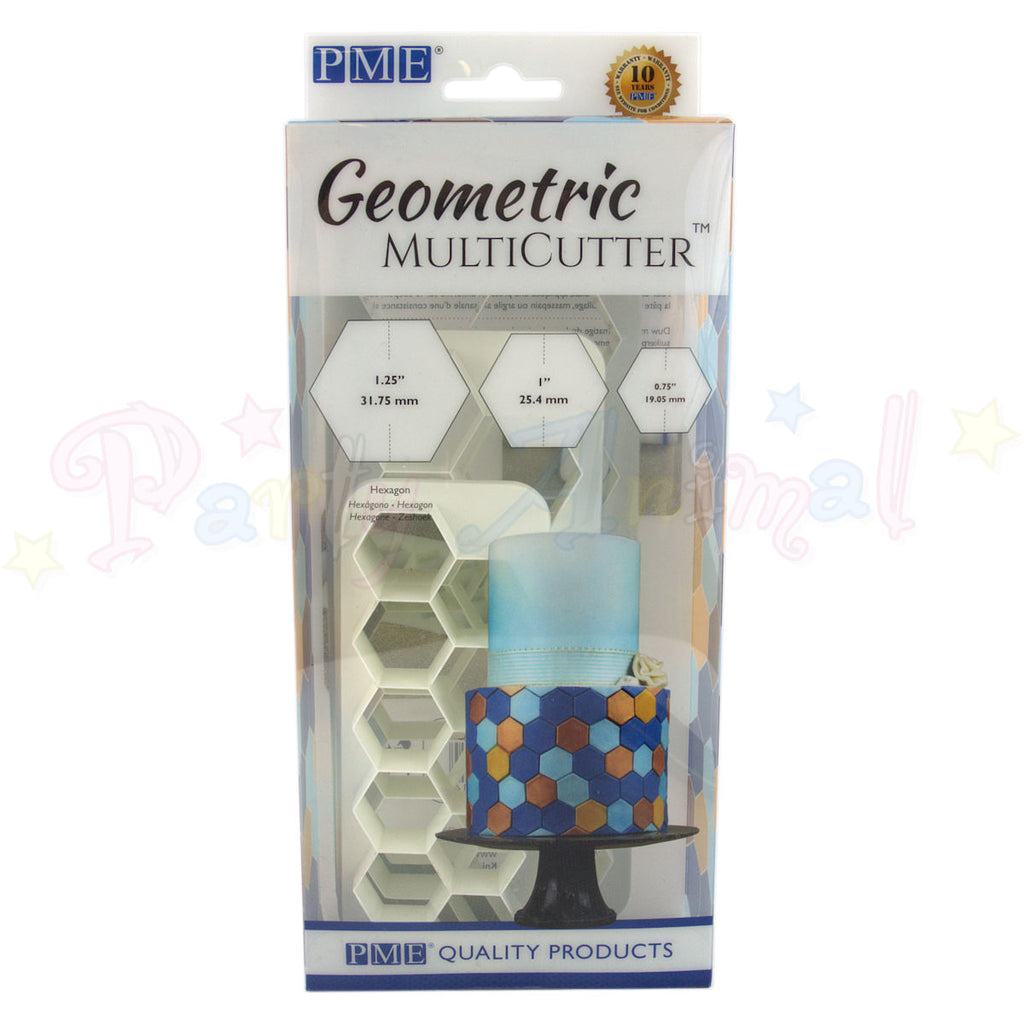 PME Geometric Multicutter Hexagonal Set of 3