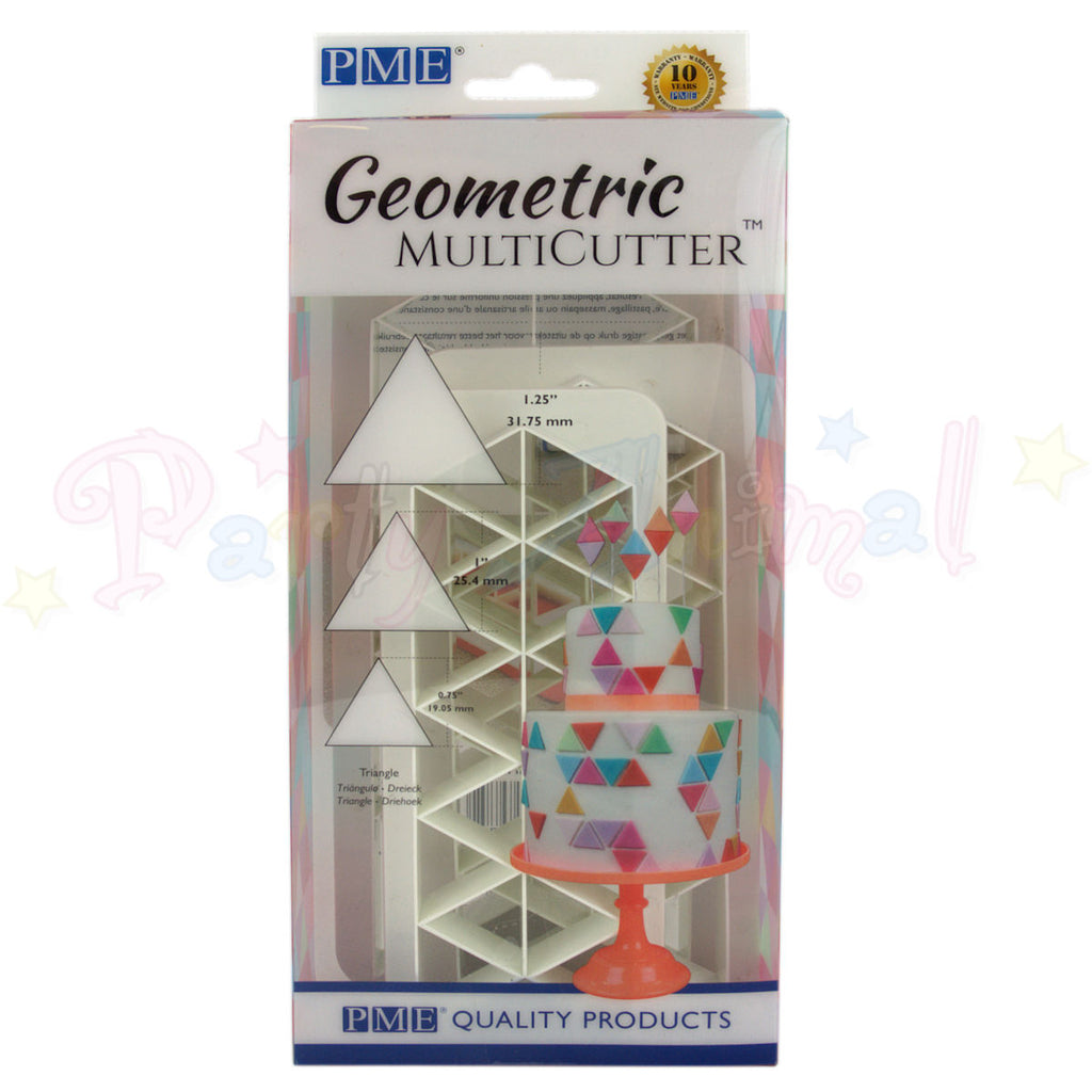 PME Geometric Multicutter Triangle Set of 3