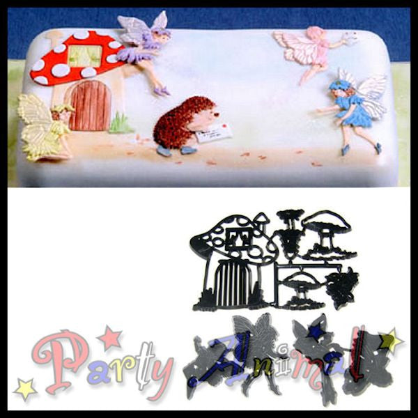 Patchwork Cutters FAIRIES & TOADSTOOLS Fairy Cutter Set