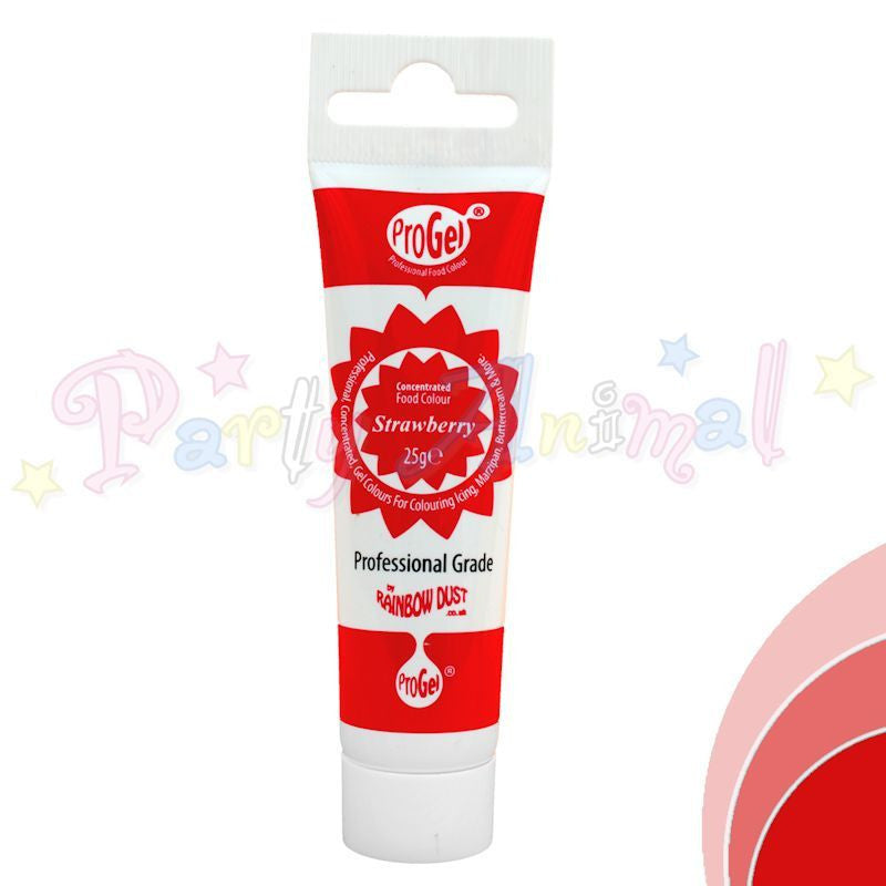 Rainbow Dust Edible Food Colour Pro Gel - STRAWBERRY