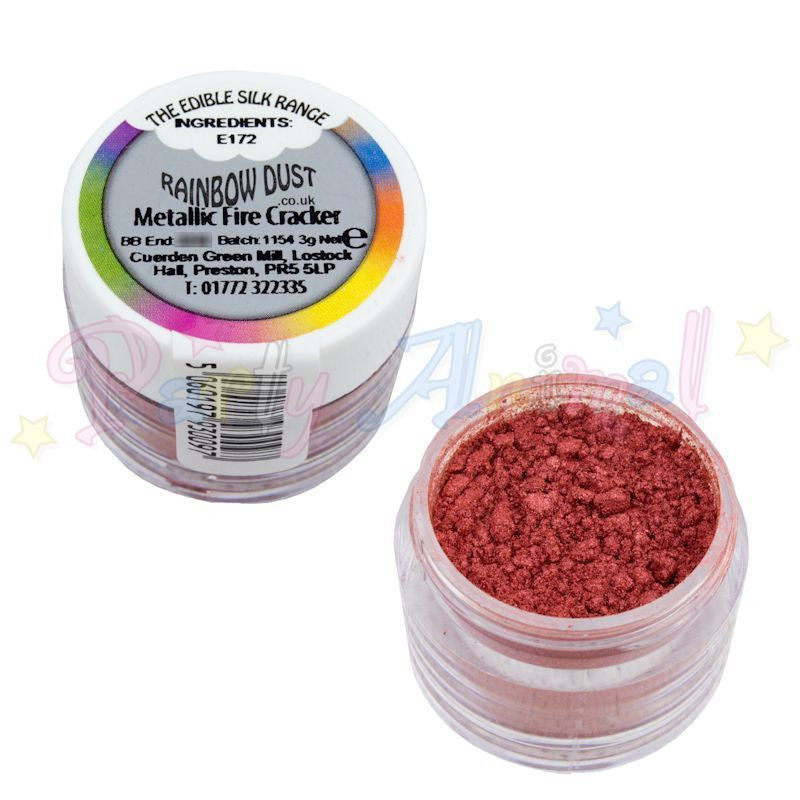 Rainbow Dust  Edible Silk Range - METALLIC FIRE CRACKER