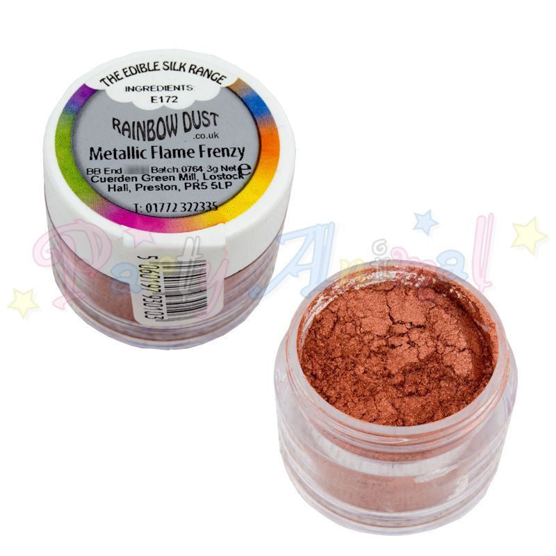 Rainbow Dust  Edible Silk Range - METALLIC FLAME FRENZY