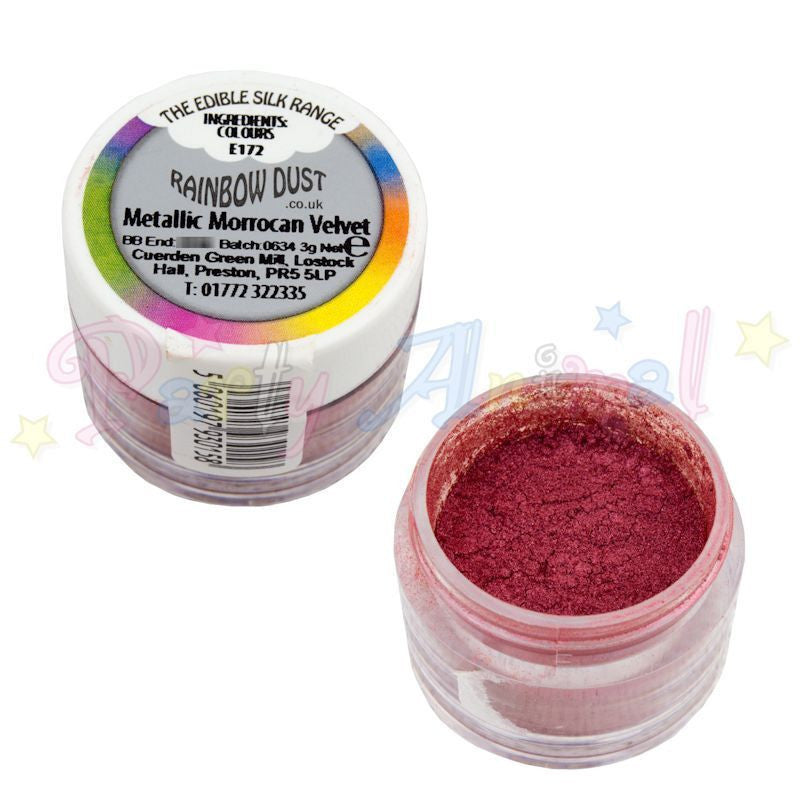 Rainbow Dust  Edible Silk Range - METALLIC MOROCCAN RED