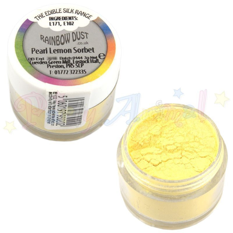 Rainbow Dust  Edible Silk Range - PEARL LEMON SORBET
