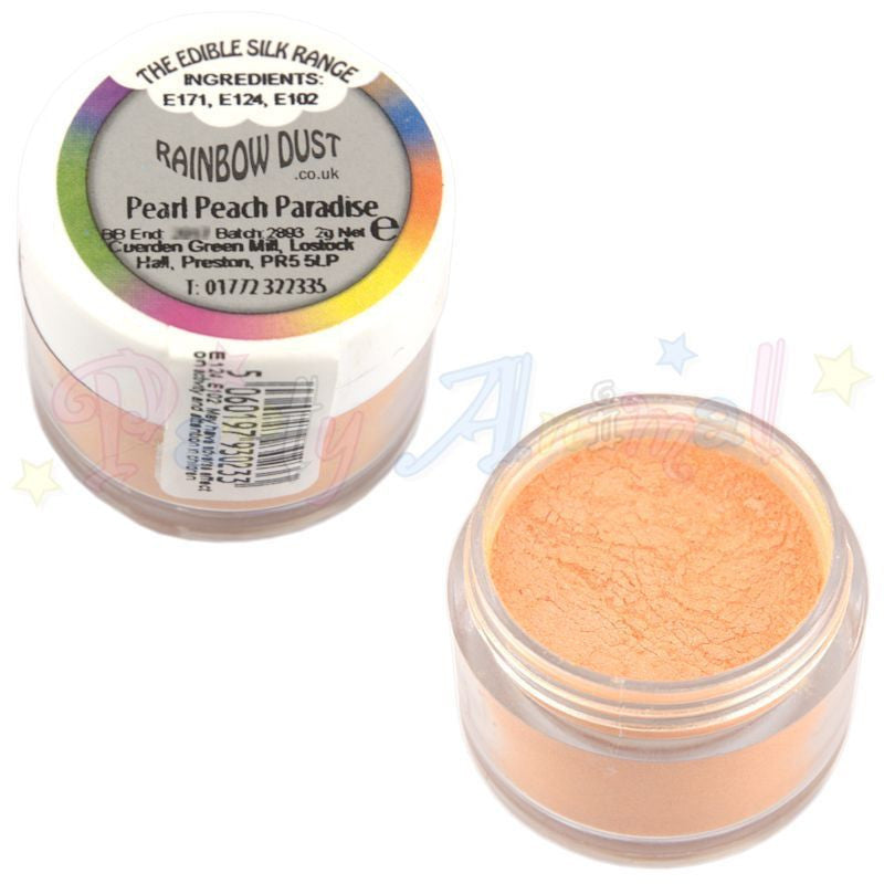 Rainbow Dust  Edible Silk Range - PEARL PEACH PARADISE