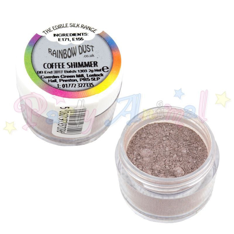 Rainbow Dust  Edible Silk Range - COFFEE SHIMMER