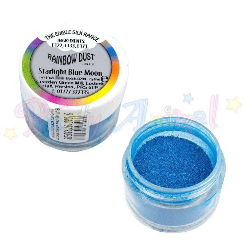 Rainbow Dust  Edible Silk Range - STARLIGHT BLUE MOON