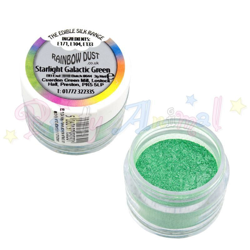 Rainbow Dust  Edible Silk Range - STARLIGHT GALACTIC GREEN
