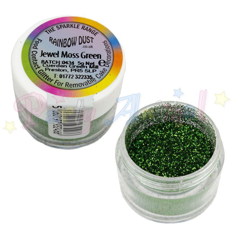 Rainbow Dust Glitter Sparkle Colours - JEWEL MOSS GREEN