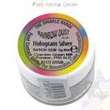 Rainbow Dust Glitter Sparkle Colours - HOLOGRAM SILVER