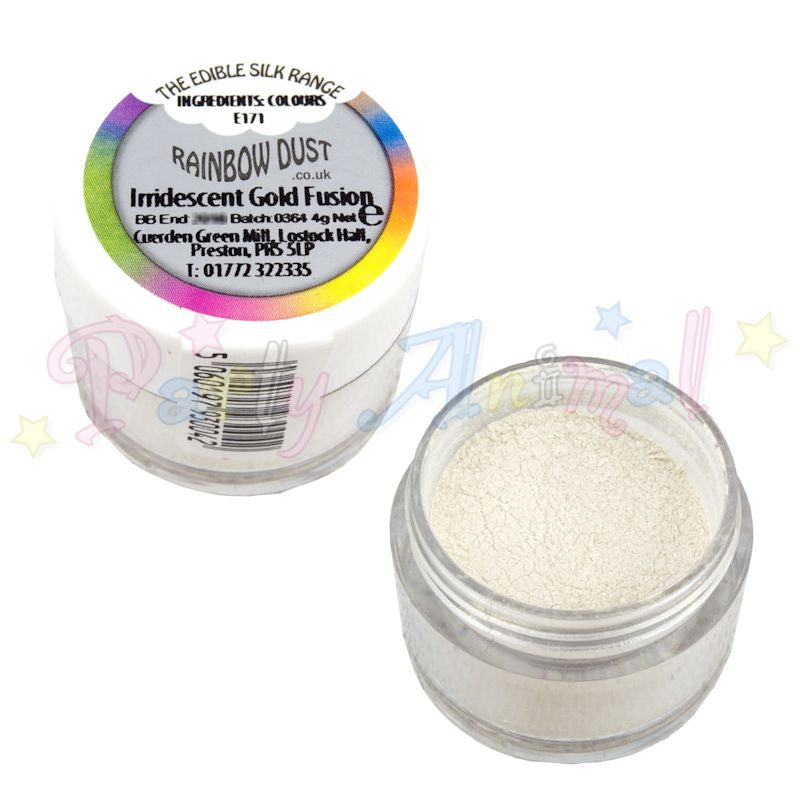 Rainbow Dust  Edible Silk Range - IRIDESCENT GOLD FUSION