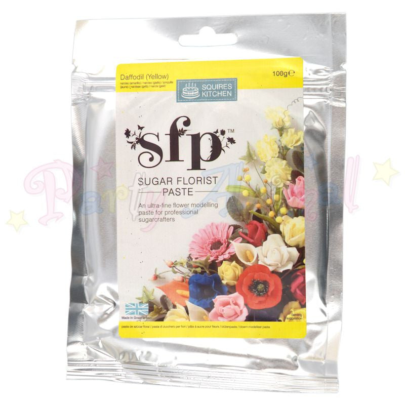 Squires Kitchen Sugar Flower Paste SFP - Daffodil Yellow 100g
