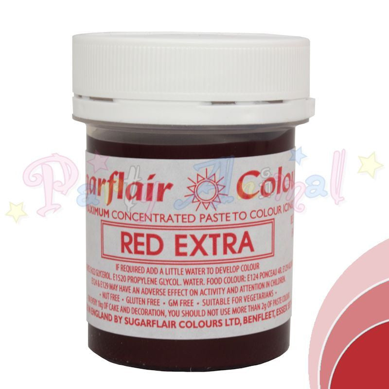Sugarflair Extra Concentrated Paste Food Colouring - RED EXTRA