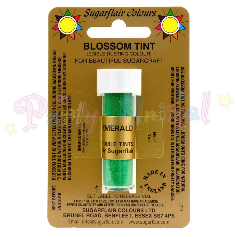 Sugarflair Colours EMERALD GREEN Blossom Tint Dusting Powder