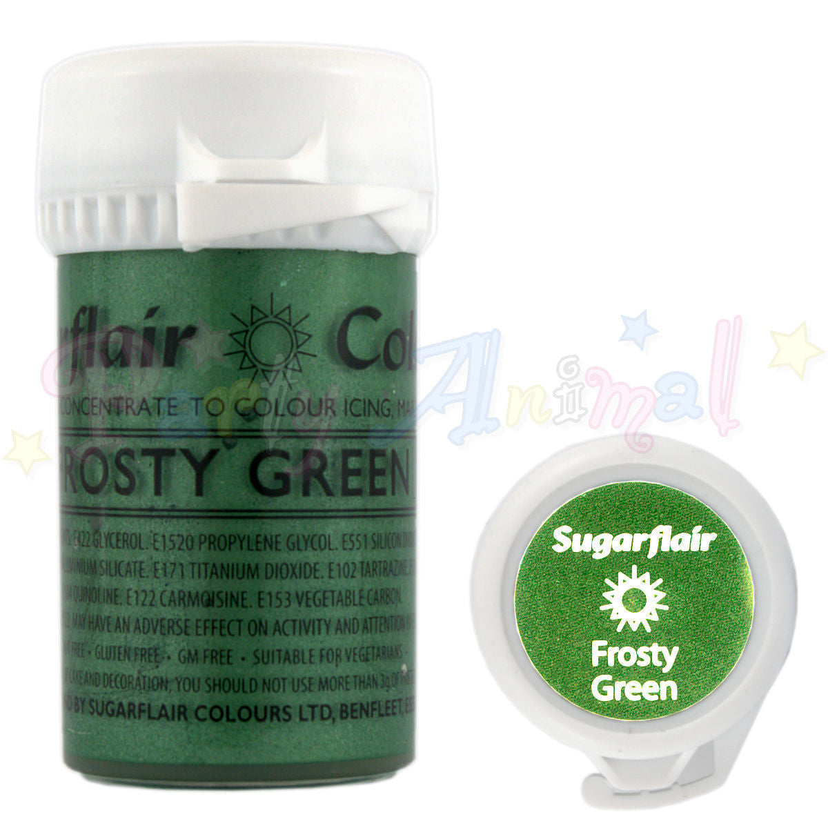Sugarflair Satin Paste Food Colour - Frosty Green