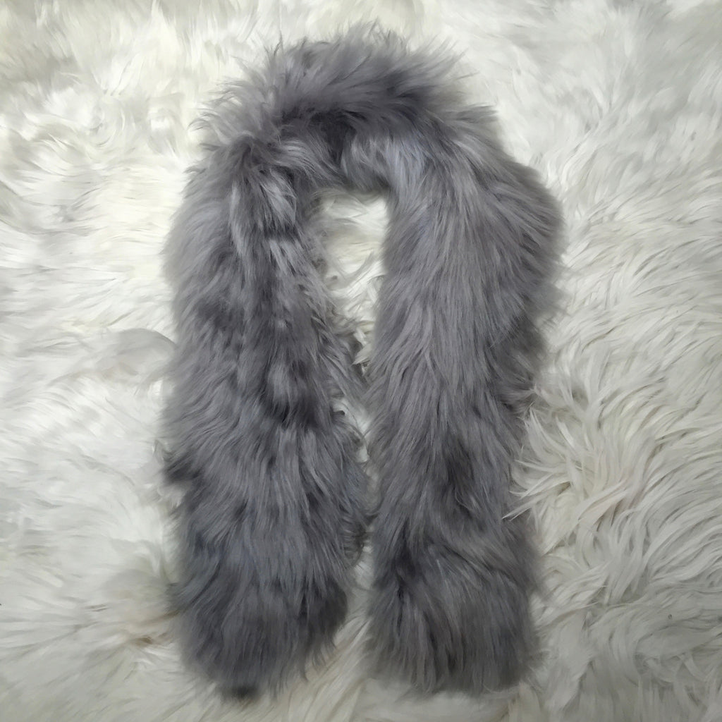 ALPACA FUR SHORT GREY  made of 100% suri Peruvian alpaca fur